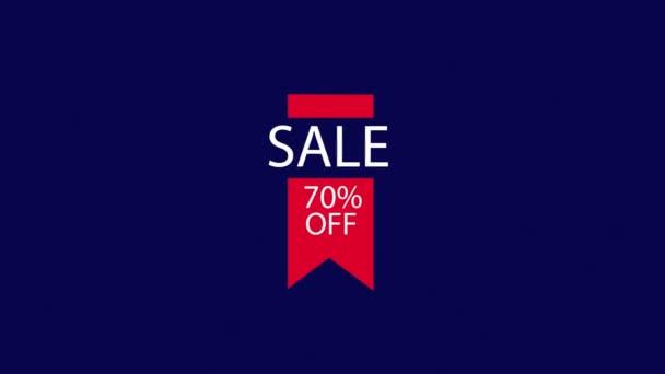 Alfa 70 % kedvezmény tag piros kék wight bevásárló címke
