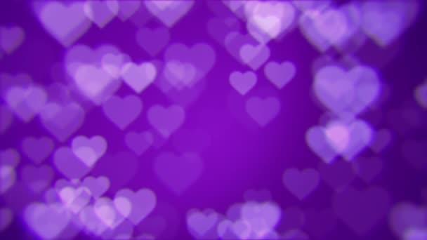 Szerelmes szívek. loopable absztrakt háttér. Csillogó Valentin-szív formájú.