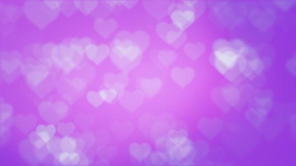 Szerelmes szívek bright.loopable absztrakt háttér. Csillogó Valentin-szív formájú.