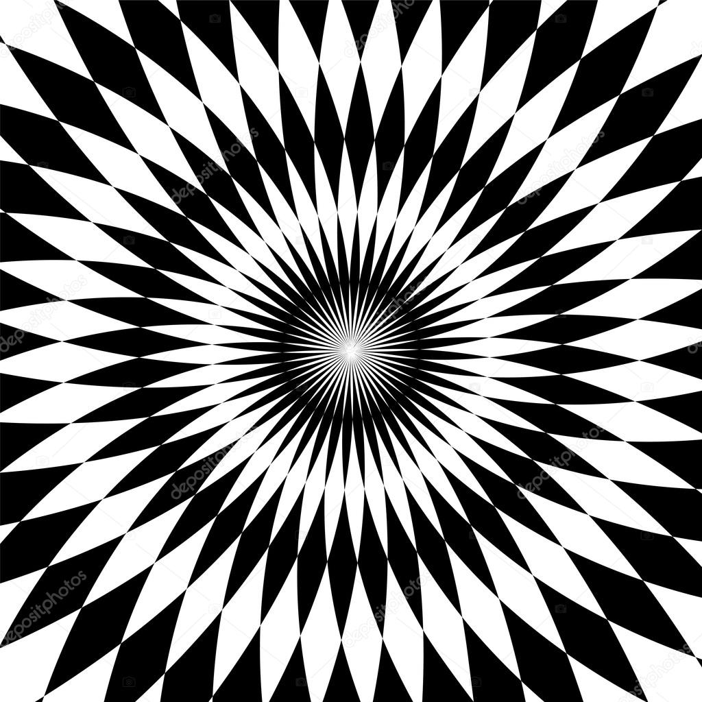Black And White Polygonal Pattern White And Black Stripes Rounded