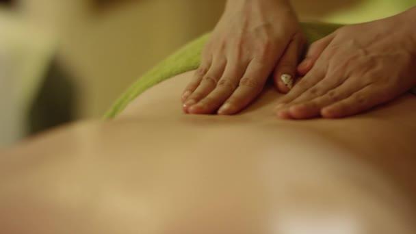 Aromatherapy Oil Massage Stock Video