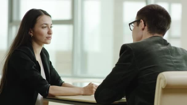 business meeting of man and woman