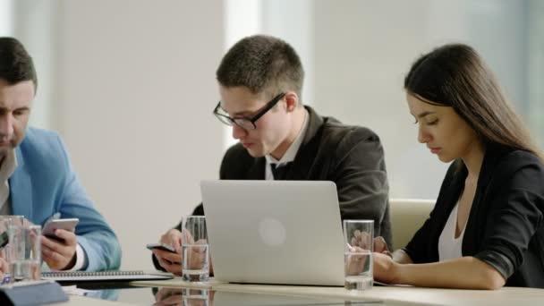 using phones at business meeting
