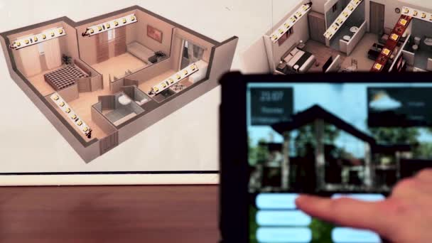 3D model of a smart home, testing