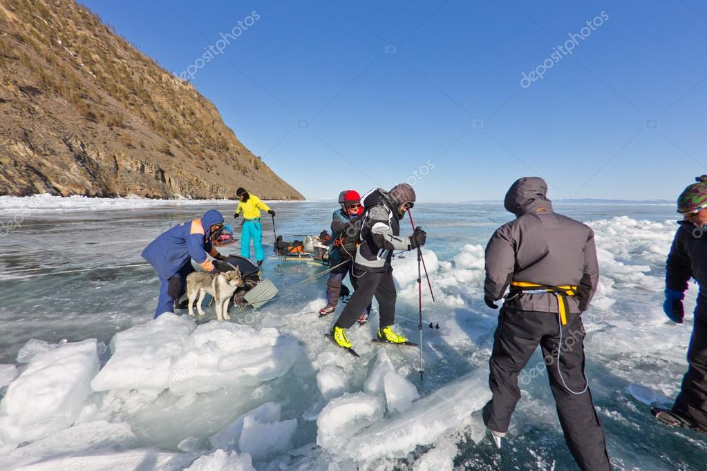 Lake Baikal, Russia, March 24  The crossing through the