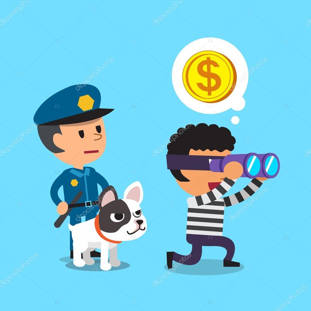 Resultado de imagem para imagem,desenho, polícia corre atrás do ladrão