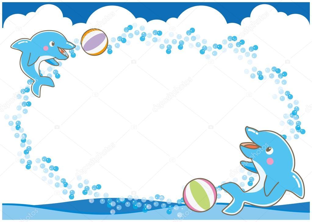 Frame of dolphin-B — Stock Vector © Kayocci #116091074