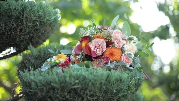 Detailní záběr krásný svatební kytice
