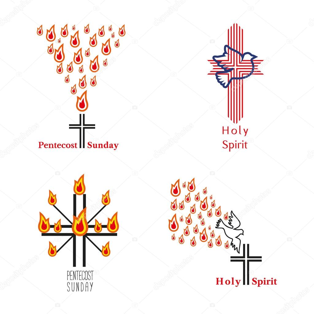 Church symbols holy spirit stock vector 64samcorpail set of church icons holy spirit jesus god church sacrament symbol pentecost sunday trinity biblical tongues of fire cross holy spirit dove buycottarizona Gallery