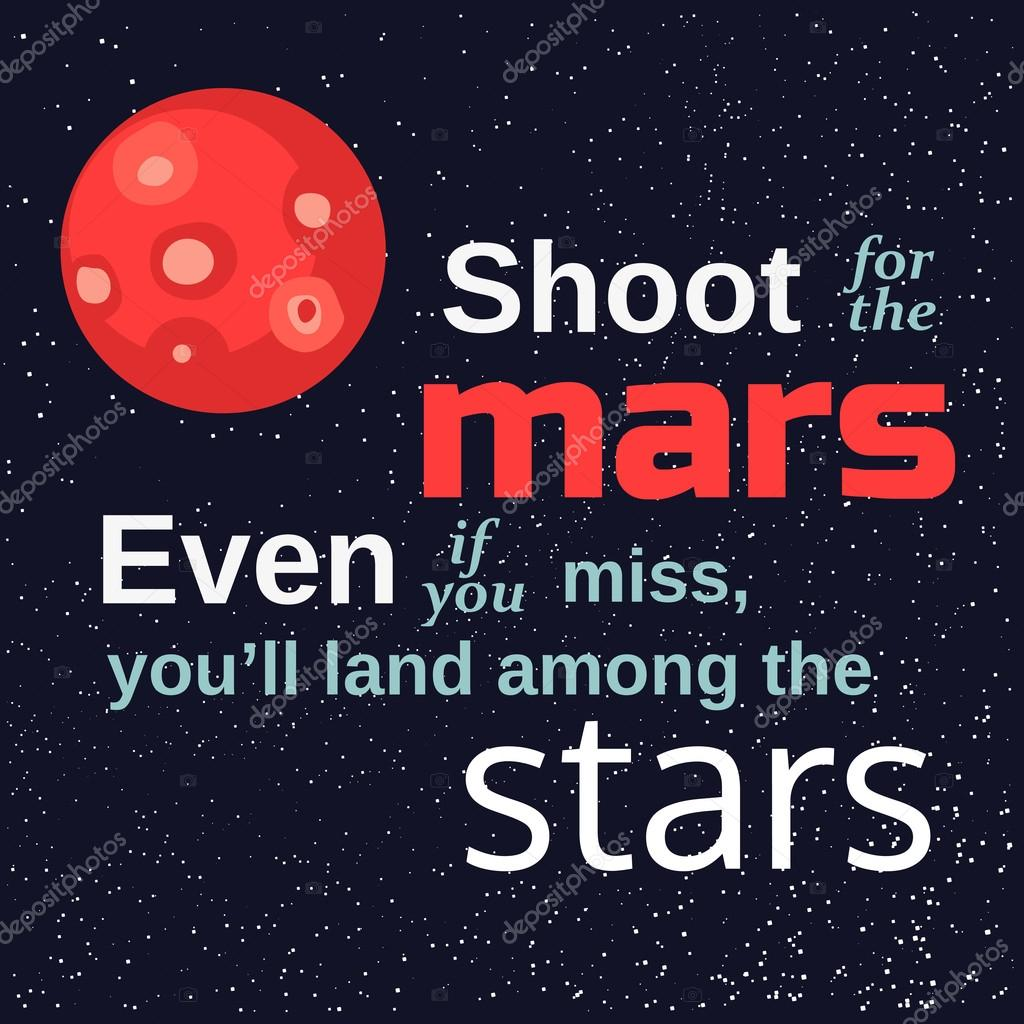 Motivated Quote About Mars Stock Vector 64samcorpgmailcom