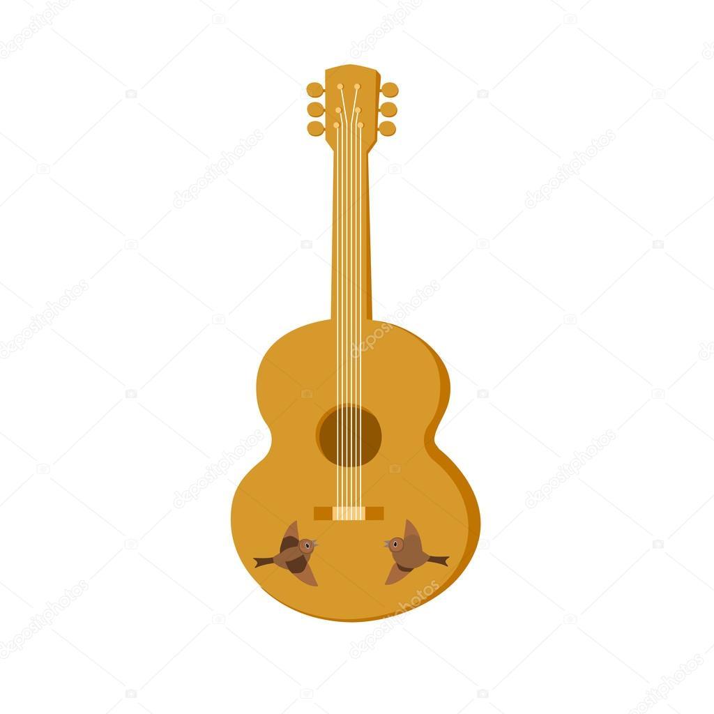 aislado de la guitarra acústica — Archivo Imágenes Vectoriales ...