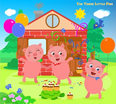 The three little pigs folktale happy ending
