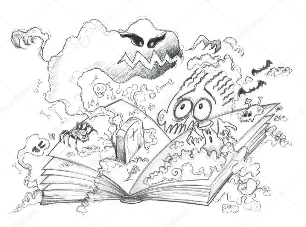 Ilustración del libro de terror — Fotos de Stock © carlacastagno ...