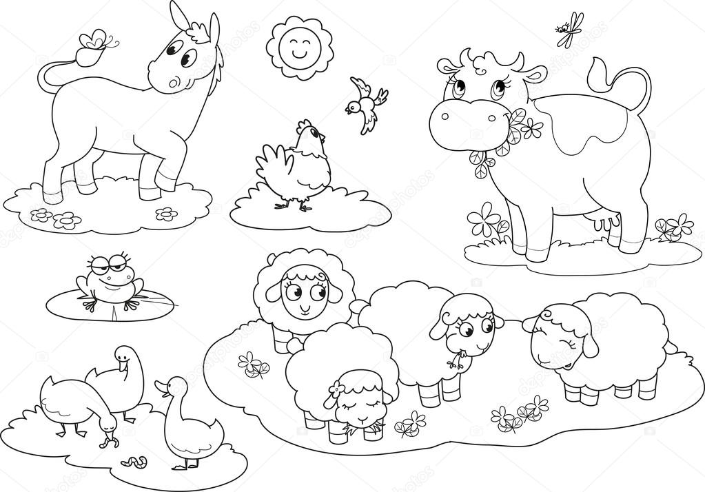 Dibujos Animales Granja Para Colorear Animales De Granja Para