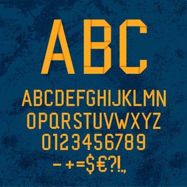 Vintage handmade alphabet