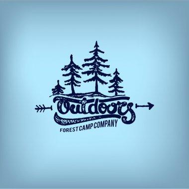 Retro adventure label