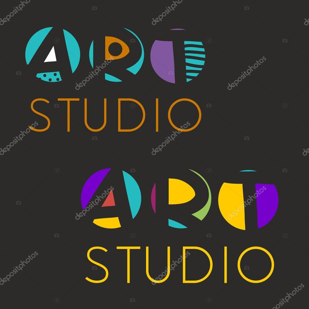 Plantilla de diseño de logotipo para estudio de arte, Galería ...