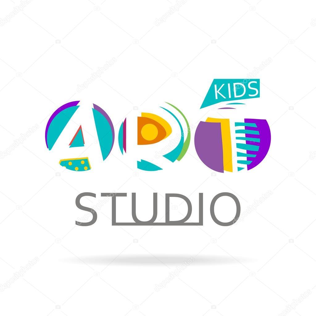 Plantilla de diseño de logotipo para estudio de arte de los niños ...
