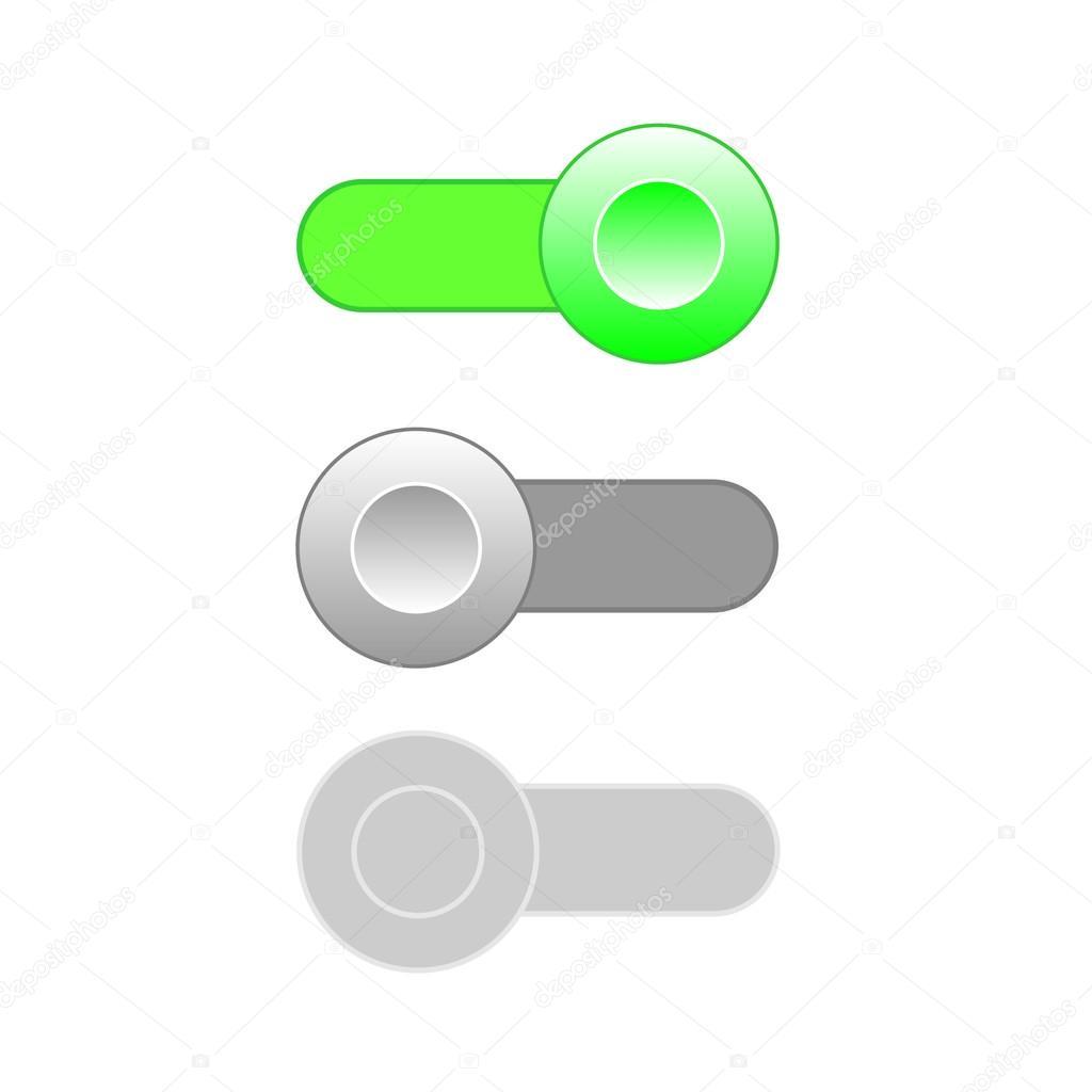 Auf aus familiales deaktivieren Schalter Symbole — Stockvektor ...