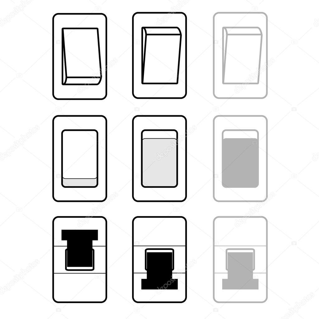 Auf Off aktivieren deaktivieren Schalter Symbole — Stockvektor ...