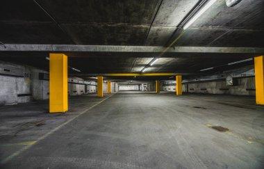 Underground parking scenery