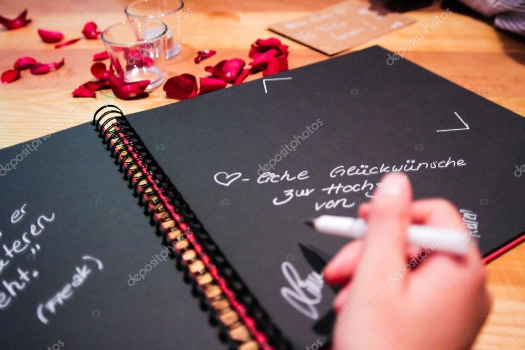 Livre D Or Pour Mariage Ou Anniversaire Et Texte Allemand