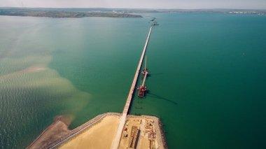 Russia , the construction of the Crimean bridge
