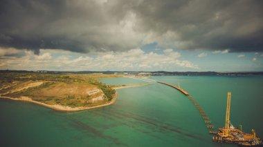 the construction of the Crimean bridge