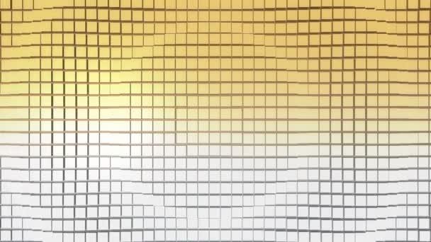Krychlový povrch v pohybu. Loop připravena animace krychle pohybuje vlna