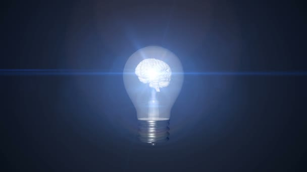 Glühbirne mit Gehirn innen