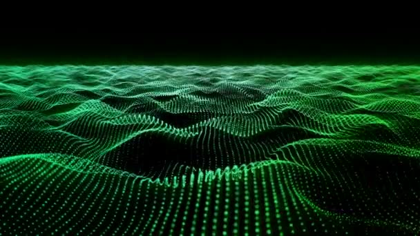 Motion background, wavy animated surface loop