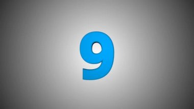 countdown animation from 10 1 numbers animated for intros and