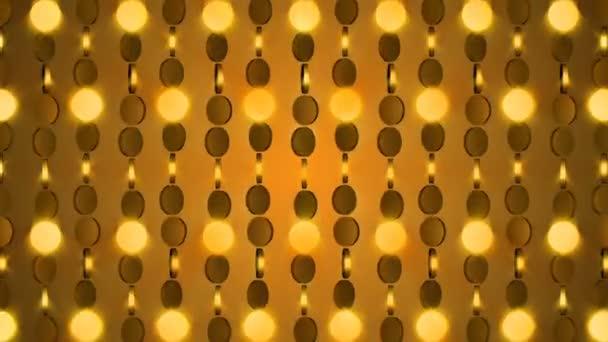 Zlatý řetízek pozadí reflexní lesk lehké částice