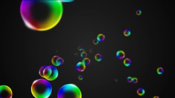 Animazione colorata bolla di sapone