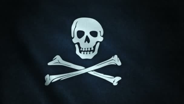 3d animation of pirate flag closeup