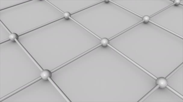 Abstract 3d render Molecular floor