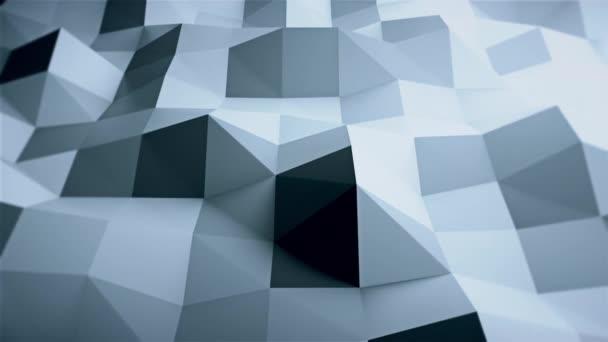 Jednoduchý nízký polygonální povrch s hranami, počítačově generované moderní abstraktní pozadí, 3D vykreslování
