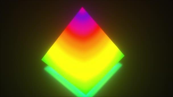 Multi gradient neon abstract pyramid.
