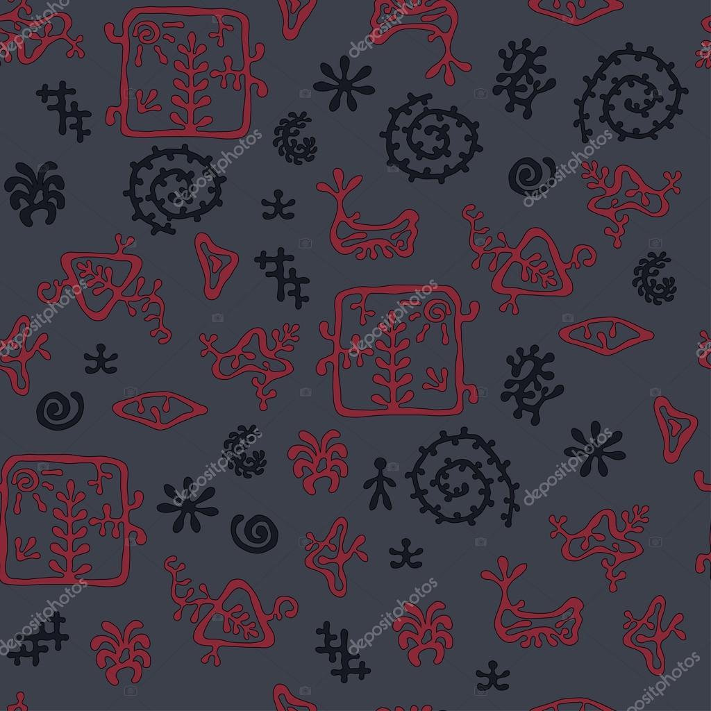 Rock Malerei Stilmuster, Dunkle Höhle Farben, Nahtlose Textur Für Textil,  Hintergrund, Tapeten Und Geschenkpapier U2014 Vektor Von Zharkusha