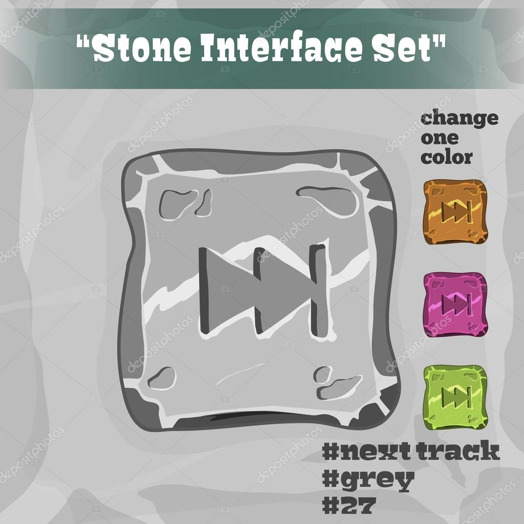Stone User Interface Element 27. UI and UX Element. Eps 10.