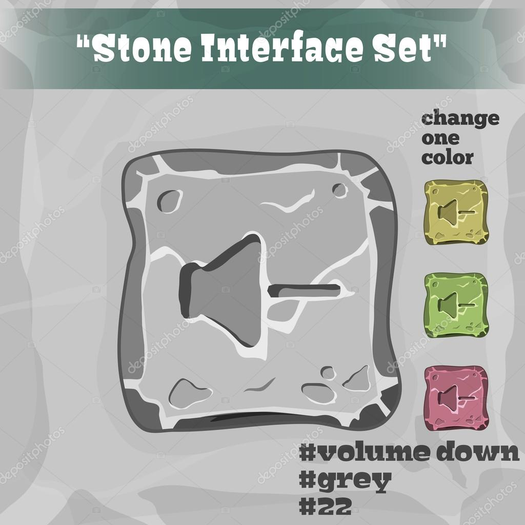 Stone User Interface Element 22. UI and UX Element. Eps 10.