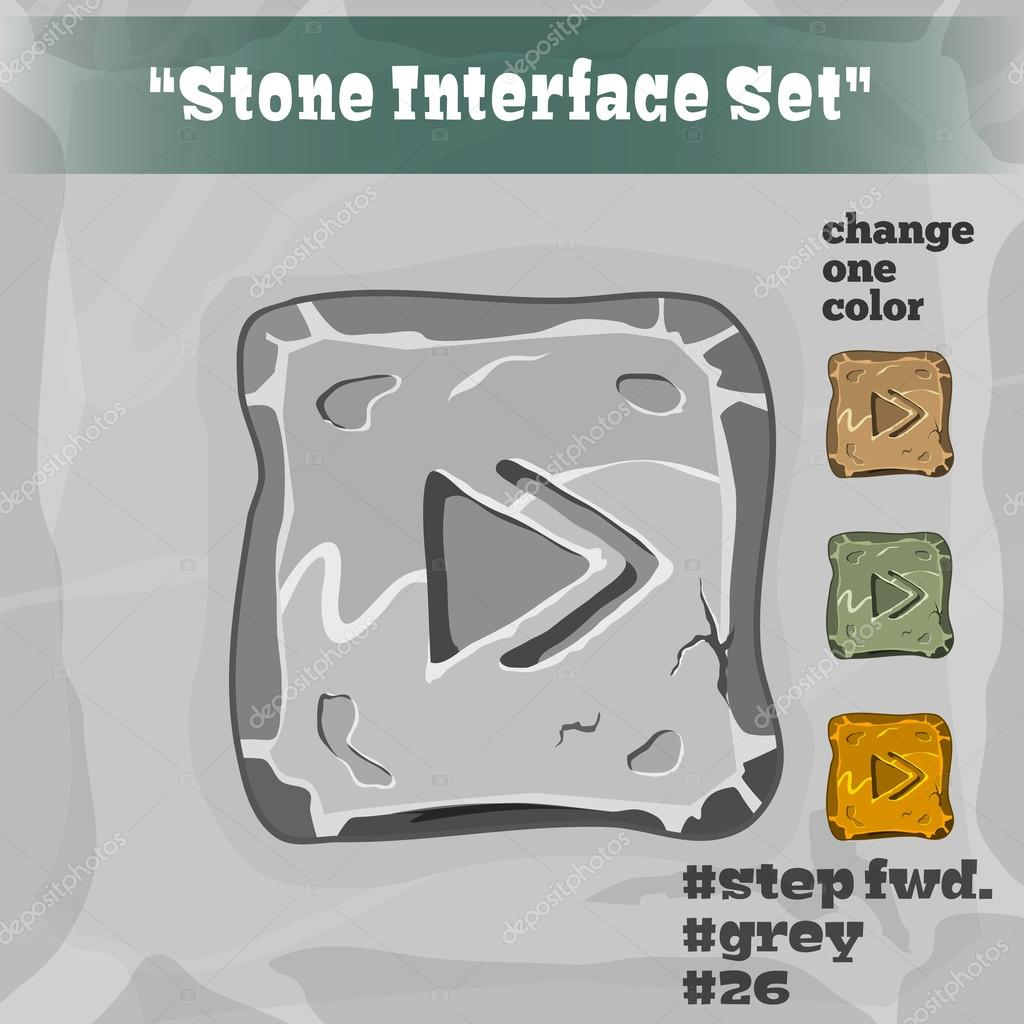 Stone User Interface Element 26. UI and UX Element. Eps 10.