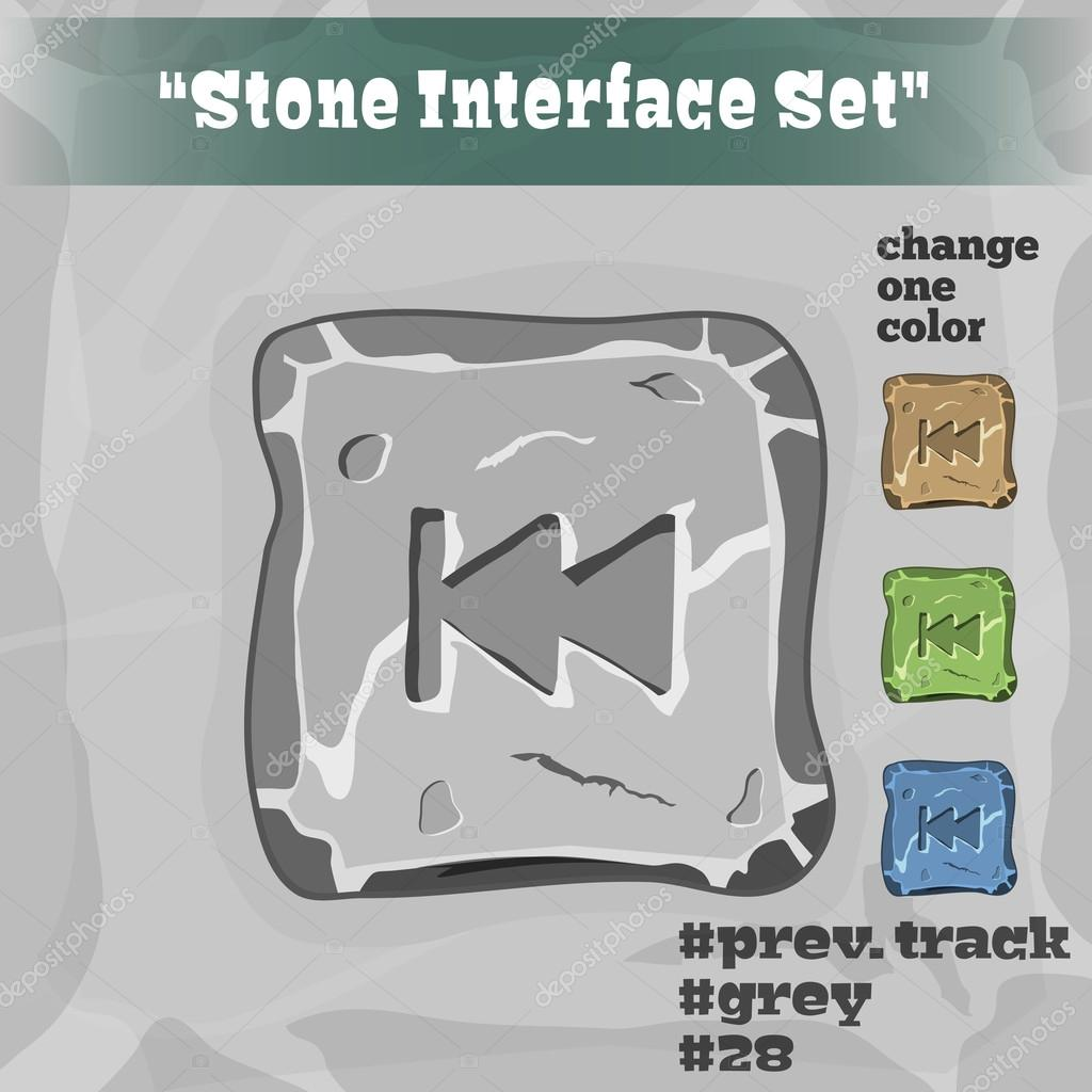 Stone User Interface Element 28. UI and UX Element. Eps 10.