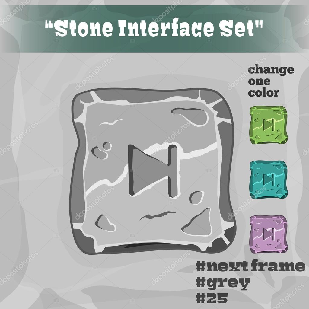 Stone User Interface Element 25. UI and UX Element. Eps 10.