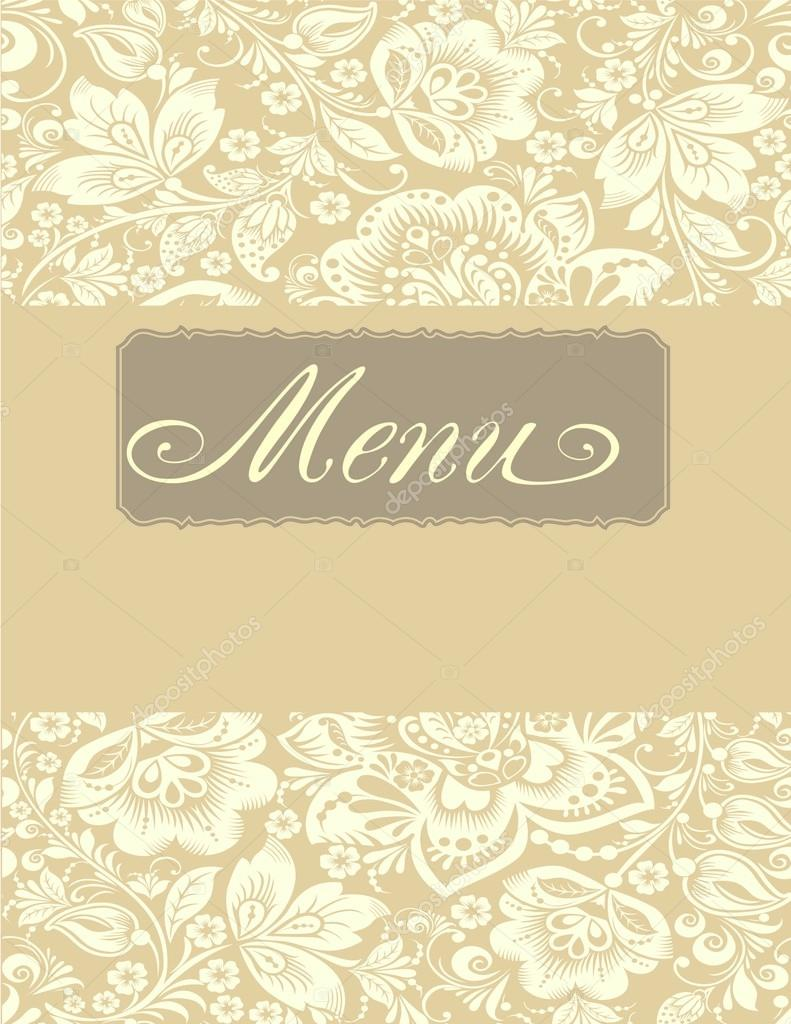 restaurant menu design. vector menu brochure template for cafe