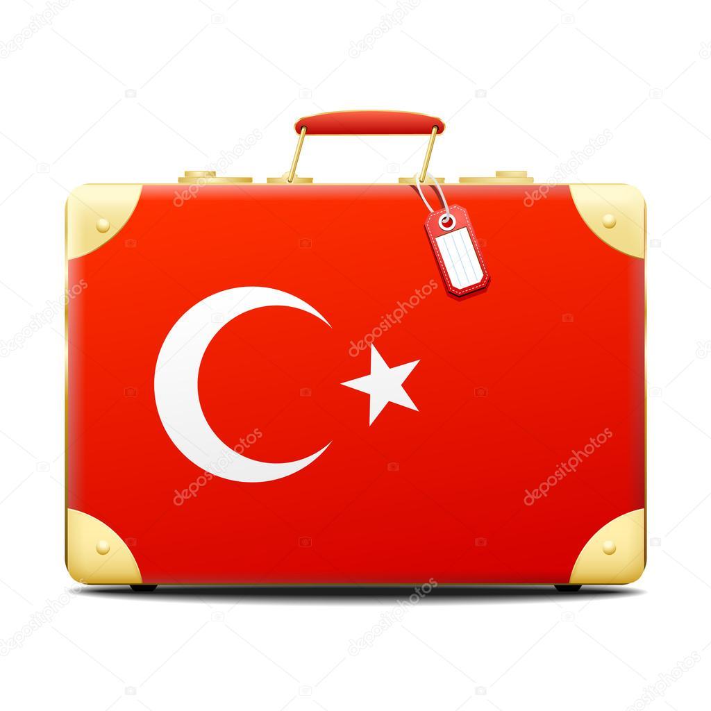Patriotische Türkei Koffer in der Farbe der Flagge — Stockvektor ...