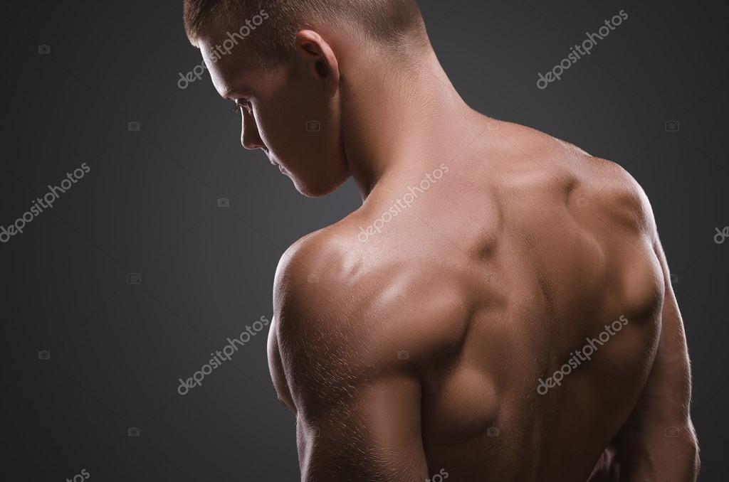 Healthy muscular young man.  Sport portrait.