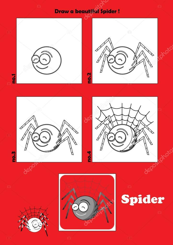 örümcek Vektör Vektör Komik Hayvanlar Stok Vektör Pirayesh