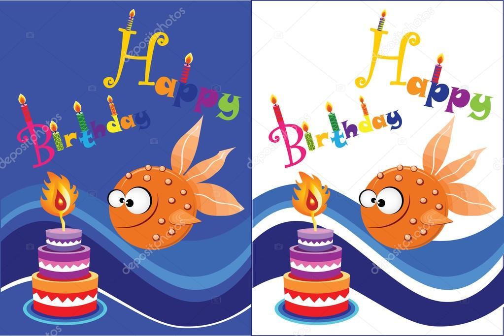 Bekend vector grappige verjaardag wenskaarten — Stockvector © pirayesh  KM-89