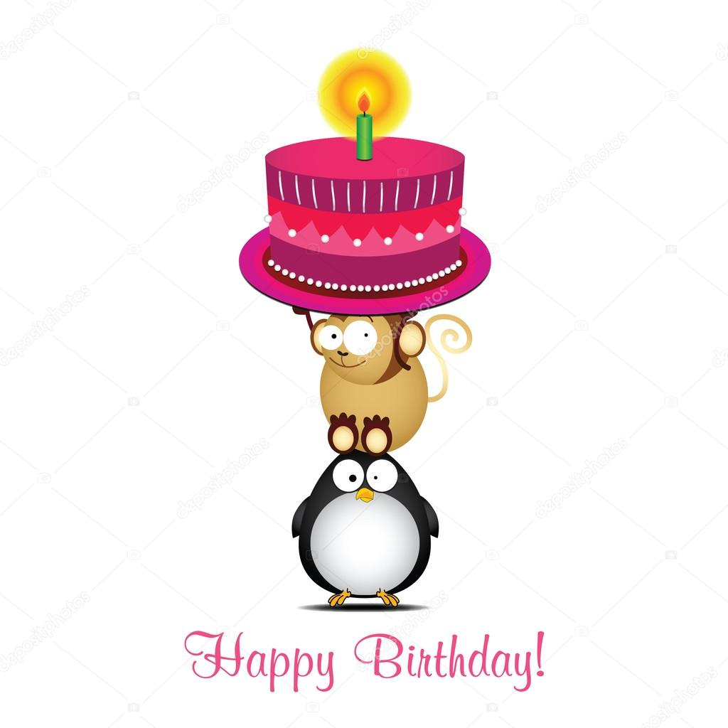 Vector Funny Birthday Greeting Card Stock Vector Pirayesh 118975616
